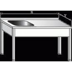 Pracovní stůl s dřezem 1200x600x900mm