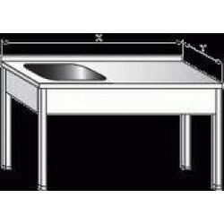 Pracovní stůl s dřezem 1000x700x900mm