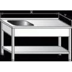 Pracovní stůl s dřezem a policí 1000x600x900mm