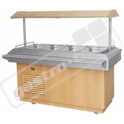 Chladící salátový bar 4xGN1/1 - Ořech