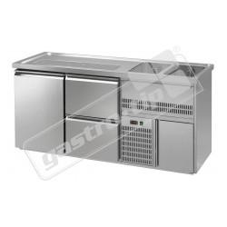 Chladící stůl výčepní s agr. a dřezem RBPD - 2x