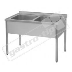 Dřez - 120x60, nádoby 2x 50x50x30 cm