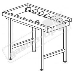 Stůl válečkový s vanou, odpadem a koncovým spínačem